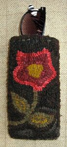 "Flower Eyeglass Case lined with snap closure 7"" x 3½"" $55"