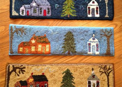 Hometown hooked by Marlene Wright and a few people in her rug hooking group located in Kentucky. They're all so different and look fantastic