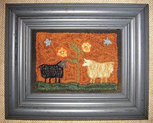 "Two Sheep Meeting 9½"" x 7½"" $75"