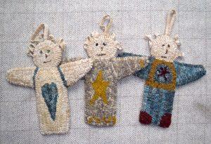 3 Angel Ornaments (includes 3 drawn designs)