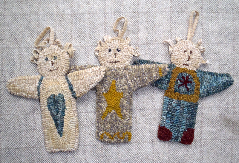 3 Angel Ornaments (includes 3 drawn designs)