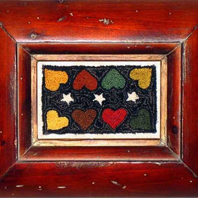 "Antique Hearts 5¾"" x 3"" Kit — $18"