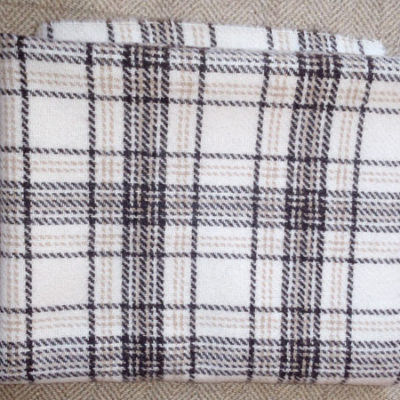 Brown/Cream Plaid Textured Wool