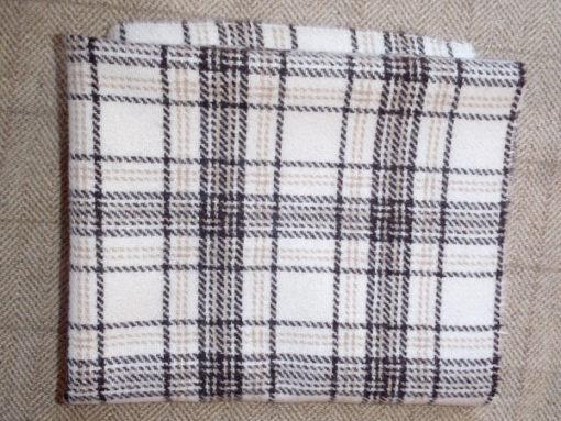 Brown/Cream Plaid Textured Wool