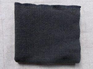 Dark Olive Plaid Textured Wool