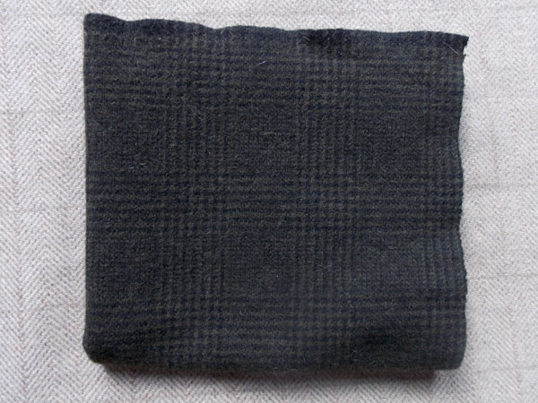 Dark Olive Plaid Textured Wool