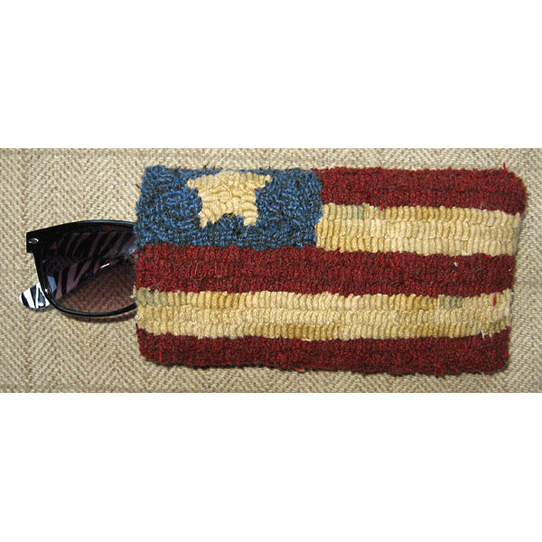 Flag eyeglass case