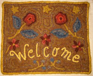 Floral Welcome (Brown)
