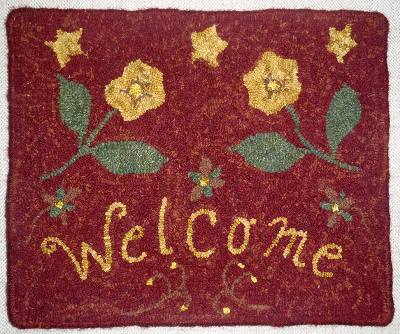 Floral Welcome (Red)