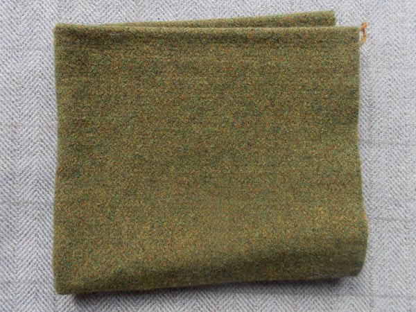 Green Heather Textured Wool