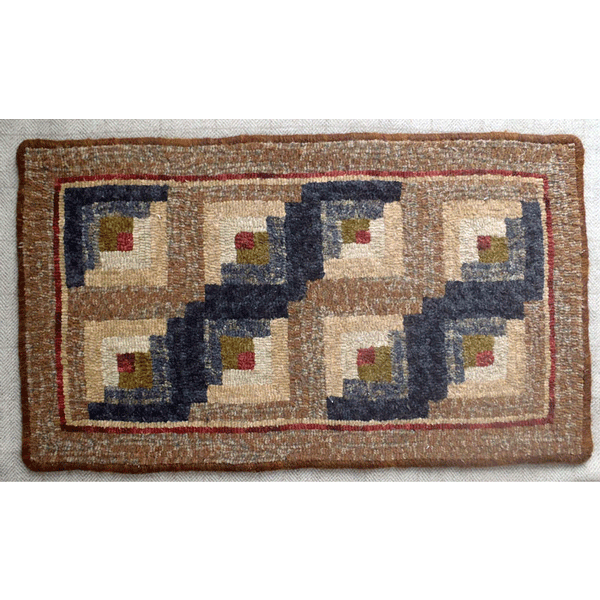Log Cabin Quilt Design (Brown)
