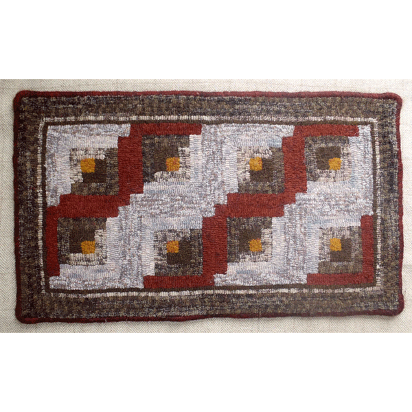 Log Cabin Quilt Design (Red)