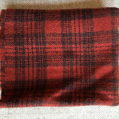 New England Red Textured Wool