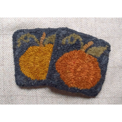 Pumpkin Mug Rug (set of 2 - colors vary)