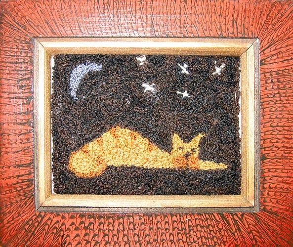 """Sleeping Kitty 7"""" x 5½"""" Kit — $18"""