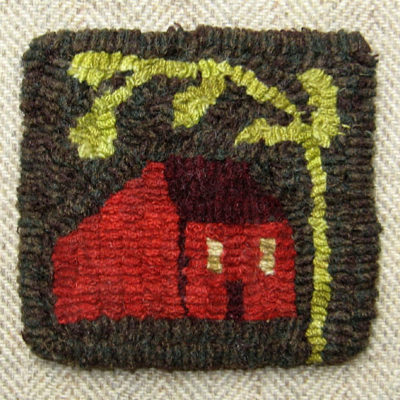 Small House Mug Rug (set of 2)