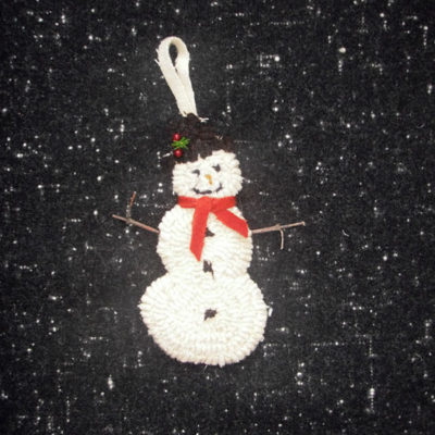 3-Piece Snowman Ornament (includes 3 drawn designs)