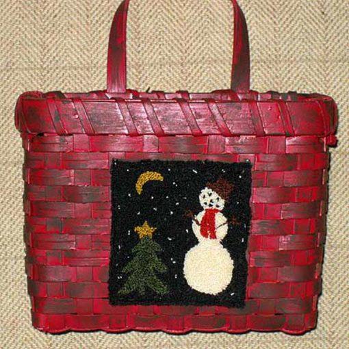 """Snowman at Night 3½"""" x 3"""" Kit — $20"""
