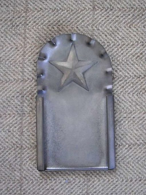 "Fluted Star Tin Frame 4½"" x 2½"" — $20"