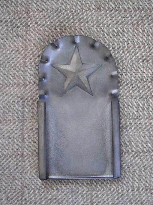 "Fluted Star Tin Frame 4½"" x 2½"" — $20"