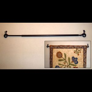 Expanding Wrought Iron Rug Hanger (MEDIUM)