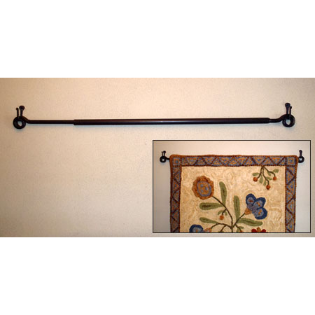 wrought iron rug hanger
